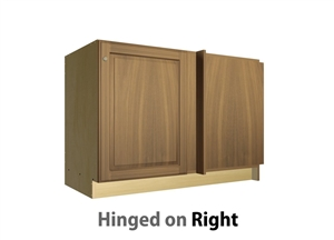 1 door blind corner base cabinet hinged right