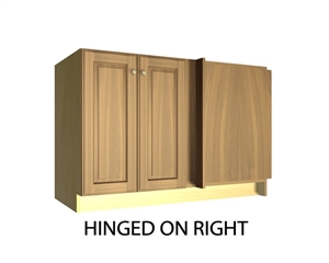 2 door blind corner base cabinet hinged right