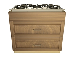 2 drawer 1 false front cooktop base cabinet