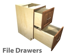 2 drawer file cabinet (letter sized files)