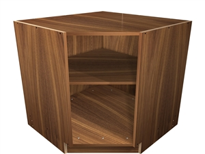 45 degree exposed interior base cabinet
