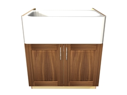 2 door apron sink base cabinet