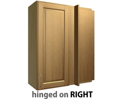 1 door blind corner wall cabinet right side hinge