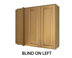 2 door LEFT blind corner wall cabinet