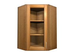 1 glass door 45 degree wall cabinet