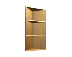 0 door exposed interior corner shelf cabinet