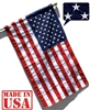 3' x 5' US Flag - Pole Sleeve and Leather Tab