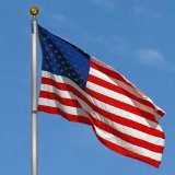 20 ft. Aluminum Telescoping Flagpole with American Flag (935PE)