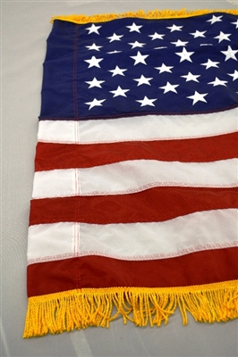 4 X 6 Us Flag Nylon Pole Sleeve And Fringe