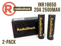 Radio Shack INR 18650 - 20Amp - 2500mAh (Flat Top)