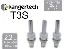 Kanger T3S Botton Coil 3 Pack 2.2 ohm