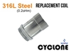 Sense Cyclone Replacement Coil Stainless Steel - 0.2 oHm