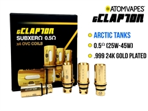ATOM gClapton 24K Gold Acrtic Replacement Coil - 0.5 oHm (4 Pack)