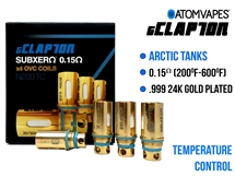 ATOM gClapton 24K Gold Arctic Replacment Coil Ni200 - 0.15 oHm (4 Pack)