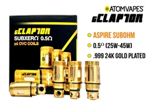 ATOM gClapton 24K Gold Aspire Replacement Coil - 0.5 oHm (4 Pack)