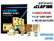 ATOM gClapton 24K Gold Kanger Replacment Coil Ni200 - 0.15 oHm (4 Pack)