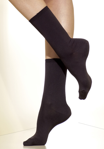 Silkies Matte Finish Microfiber Crew Socks