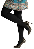 Silkies Checker Pane Control Top Tights
