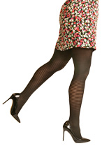 Silkies Stripe Tights - Plus Size