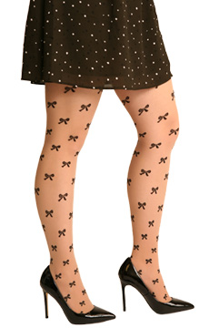 Silkies Bow Tights - Plus Size