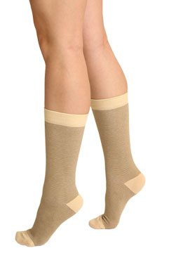 Thin Striped Crew Socks