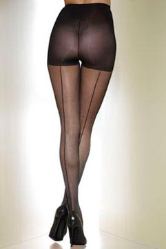 Sculptz by Silkies Back Seam Pantyhose
