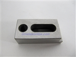 DVS32: stainless wire EDM cut jig holder 40x23x10mm flat/small  for Fanuc, Seibu..
