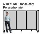 "6'10"" Tall Portable Room Divider Partition 360 in Translucent Poly-carbonate"