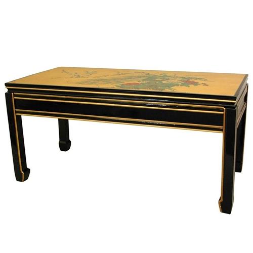 Asian/Oriental Gold Leaf Coffee Table
