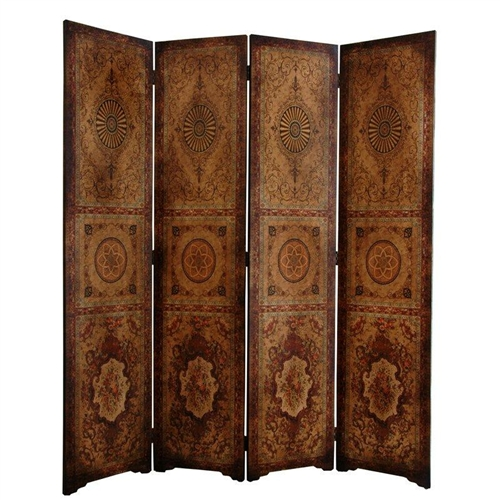 6 Ft Tall Olde Worlde Parlor Room Divider Decorative Screen