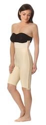 1st Stage High Waisted Girdle with Thigh Length Legs and Separating Zippers