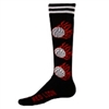 Flaming Volleyballs Socks Knee high per dozen