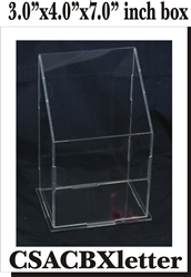 Clear Box Letter Box