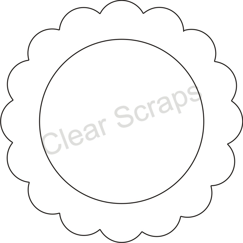 Medium Circle Scallop Frame