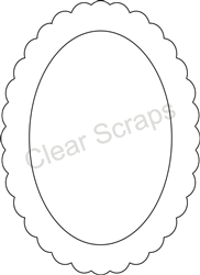 Medium Oval Scallop Frame