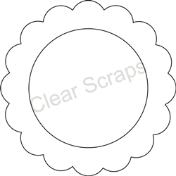 Small Circle Scallop Frame