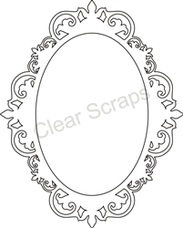 Small Oval Fancy Frame