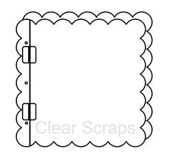 12x12 Acrylic Top Load Scallop Album