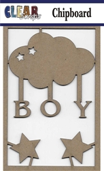 Boy Cloud Chipboard Embellishments