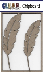 Feathers Chipboard Embellishments