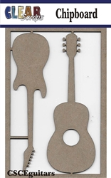 Guitars Chipboard Embellishments