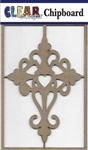 Heart Cross Chipboard Embellishments