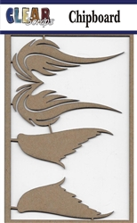Wings Chipboard Embellishments