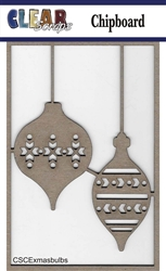 X-mas Bulbs Chipboard Embellishments