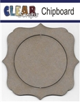 Circle Deco Chipboard Frame
