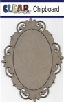 Oval Fancy Chipboard Frame