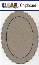 Oval Scallop Chipboard Frame