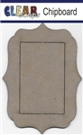 Rectangle Deco Chipboard Frame