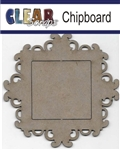 Square Fancy Chipboard Frame