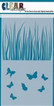 5 x 9 Grass/Butterfly Layering Stencil